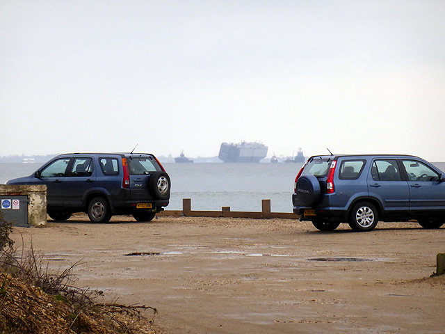 Vehicles parked at Lepe