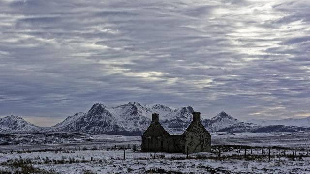 Moine House in Winter