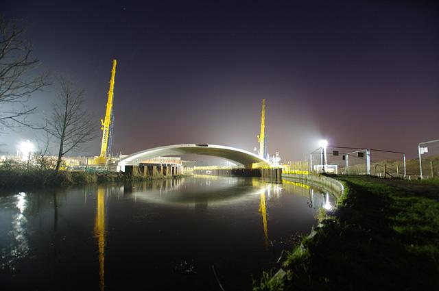Bridge construction, Lancaster Canal