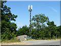 TQ0284 : Telecommunications mast, Sevenhills Road by Robin Webster
