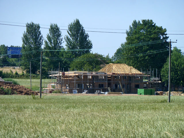 House building on Field Road