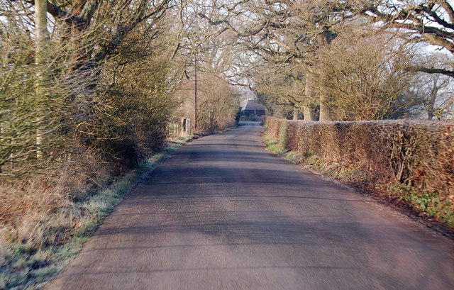 Grove Road near Courtlands Wood