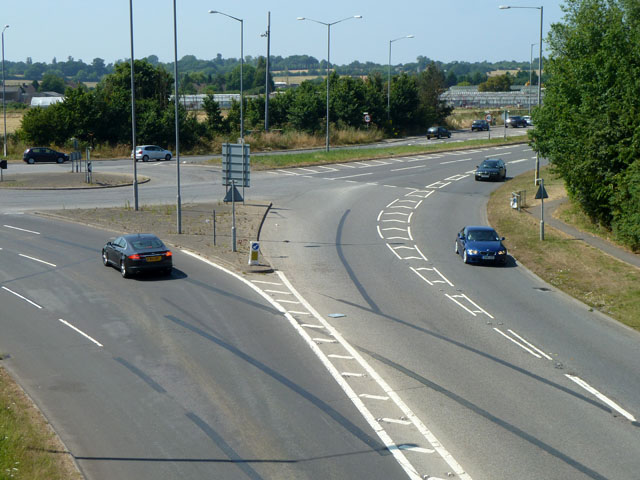 Part of Denham Roundabout