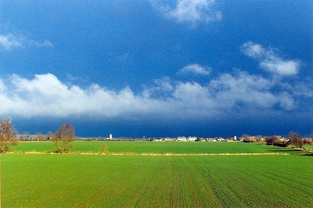 A fenland landscape near Bourne, Lincolnshire