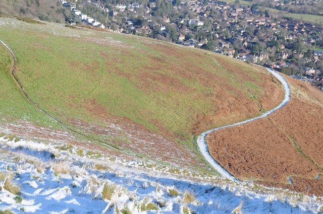 The slopes of the Malvern Hills