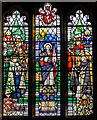 TQ4744 : Stained glass window, St Peter's church, Hever by Julian P Guffogg