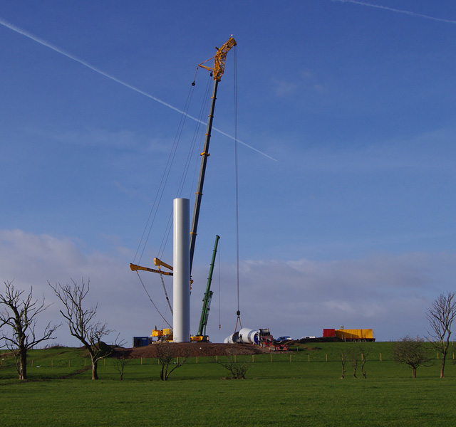 Heysham South wind farm construction