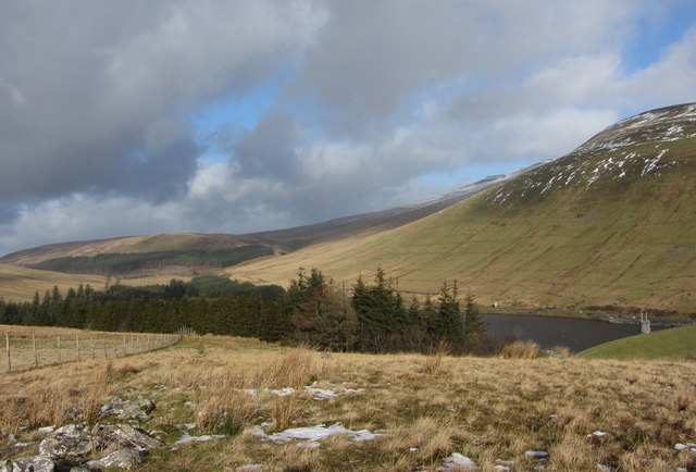 View over the Taf Fawr valley and Beacons Reservoir