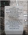 TL8564 : Bury St Edmunds: Peace Garden inscription by John Sutton