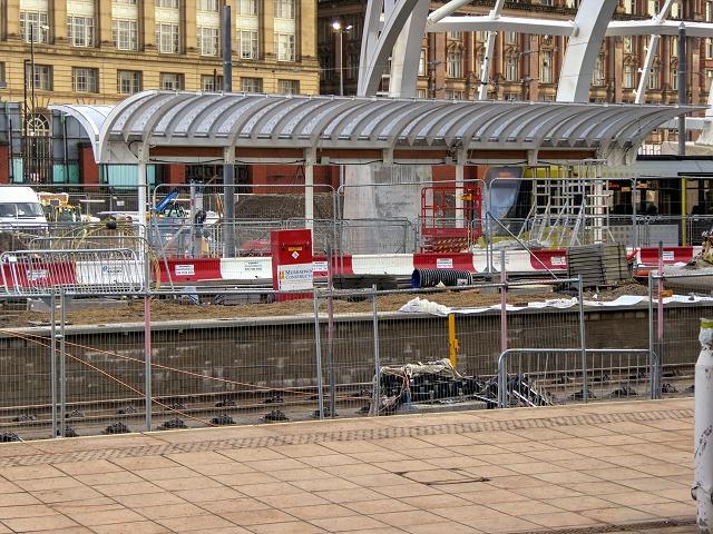 Manchester Victoria Station, New Metrolink Platform Under Construction (January 2015)