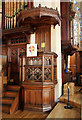 TQ3173 : Holy Trinity, Tulse Hill - Pulpit by John Salmon