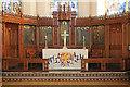 TQ3173 : Holy Trinity, Tulse Hill - Reredos WWI by John Salmon