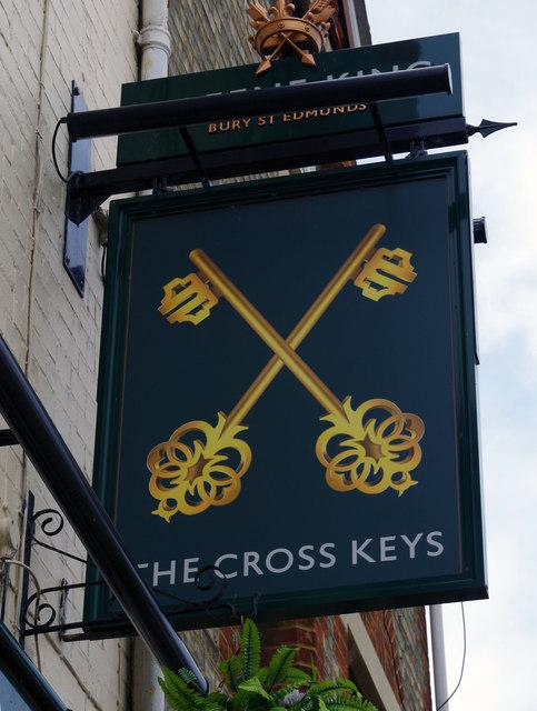 The Cross Keys (2) - sign, 148 Ock Street, Abingdon, Oxon