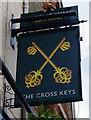 SU4996 : The Cross Keys (2) - sign, 148 Ock Street, Abingdon, Oxon by P L Chadwick