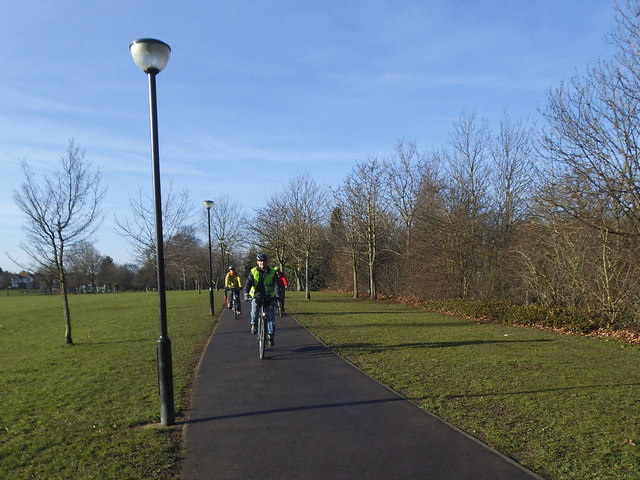 Cyclists in Eltham Park South