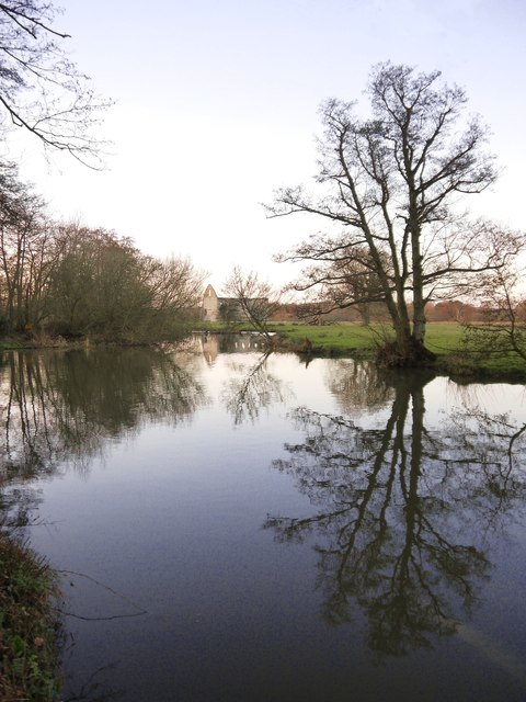 The Wey, downstream from Newark Priory