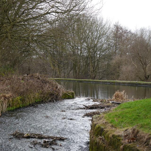 Overflow by Newlay Locks, Leeds & Liverpool Canal