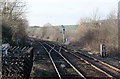 SK5581 : Looking west at Shireoaks Station by Alan Murray-Rust