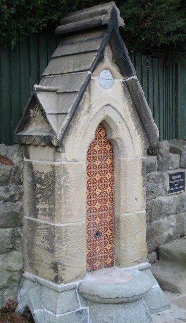 Gresford village fountain