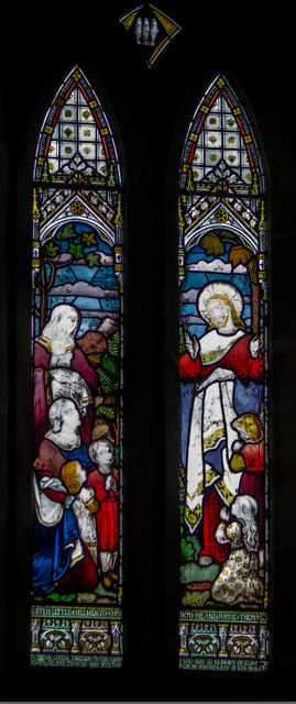 Stained glass window, St John the Baptist, Colsterworth