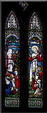 SK9324 : Stained glass window, St John the Baptist, Colsterworth by J.Hannan-Briggs