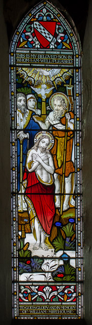 Stained glass window, St John the Baptist church, Colsterworth