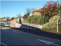 SX9473 : Pedestrian ramp and gateway to Alberta Court, Teignmouth by Robin Stott