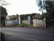 SX9473 : Gate pillars and blocked entrance, Dawlish Road, Teignmouth by Robin Stott