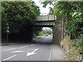 SE3804 : Disused railway bridge over Barnsley Road  by JThomas
