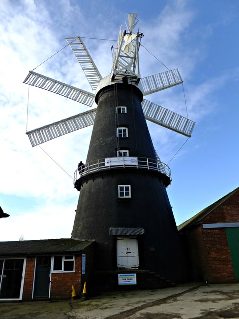 Heckington mill from the rear
