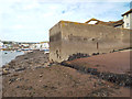 SX9372 : Base of slipway, former Morgan Giles boat yard, back beach at low tide, Teignmouth by Robin Stott