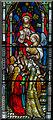 TQ5446 : Detail, east window, St Mary's church, Leigh by Julian P Guffogg