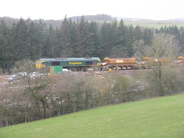 Ballast train at Bowland Bridge