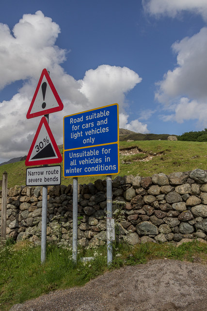 Road Sign to Hardknott Pass, Cumbria