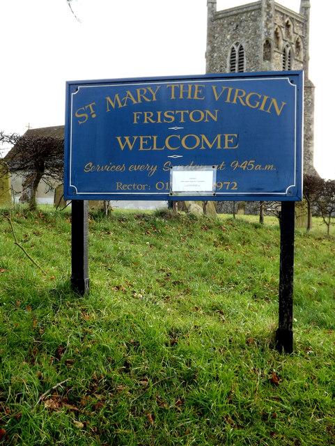 St.Mary the Virgin Church sign