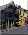 SX8751 : Under scaffolding, Newcomen Road, Dartmouth by Jaggery