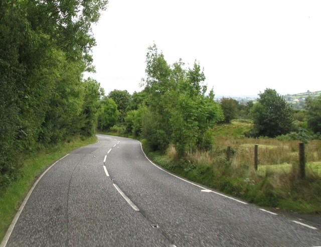 Bends on the northern section of Hall Road