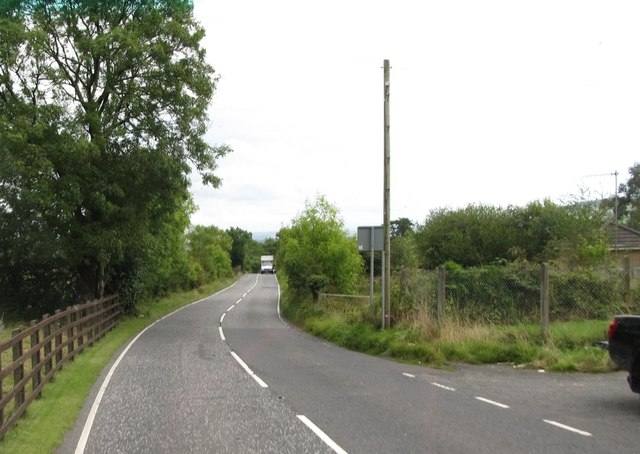 Hall Road from opposite the entrance to the Sturgan Covered Reservoir