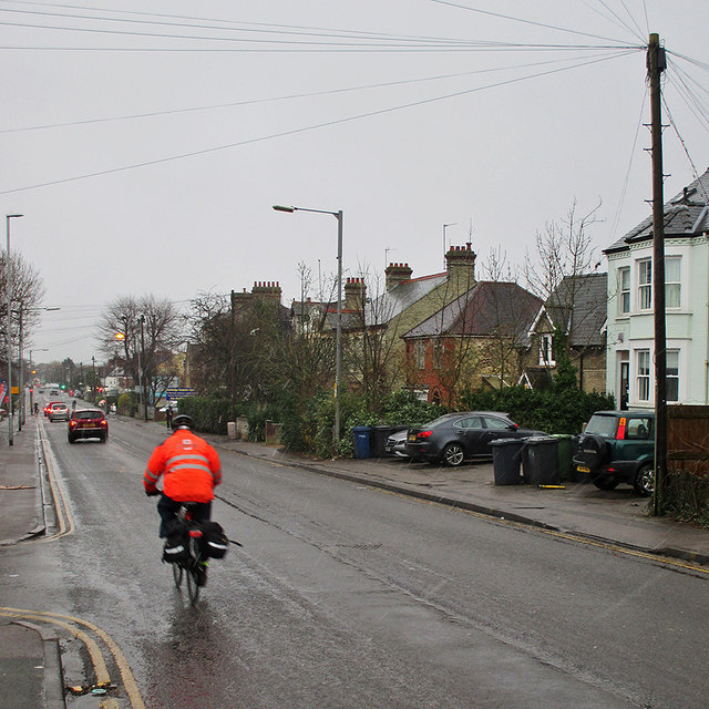 Cherry Hinton Road on a January afternoon