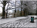 H4572 : Footprints in the snow, McCauley Park by Kenneth  Allen