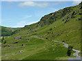 SN8454 : Mountain road in Cwm Irfon, Powys by Roger  Kidd