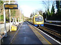 TQ3087 : An Overground train leaving Crouch Hill station by Marathon