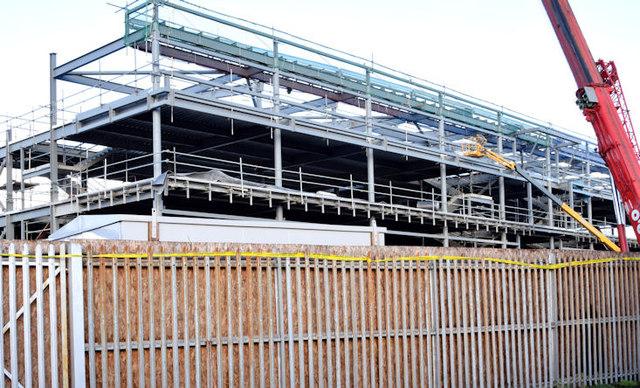 The new Railway Stand, Windsor Park, Belfast - January 2015(1)