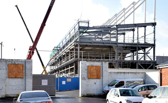 The new Railway Stand, Windsor Park, Belfast - January 2015(3)