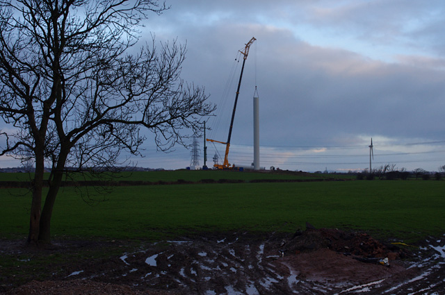 Heysham South wind farm construction