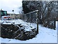 SJ8048 : Halmer End: footpath next to building site by Jonathan Hutchins