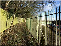 SJ8545 : Footpath boundary behind Royal Stoke University Hospital by Jonathan Hutchins