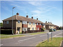 TF0920 : Edinburgh Crescent at Bourne, Lincolnshire by Rex Needle