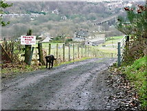 SE0722 : The Binn Royd Track at Moor End Lane by Humphrey Bolton