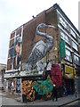 TQ3381 : Street art in Hanbury Street by Marathon